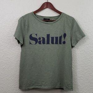 J.Crew SALUT! Tee size Large